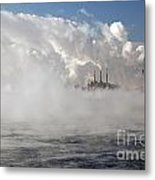 Detroit Winter Metal Print