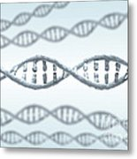 Dna Strands Metal Print