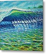 Dolphin Surf Metal Print