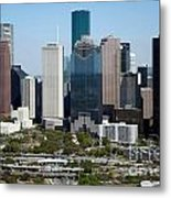 Downtown Houston Skyline Metal Print