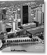 Downtown Skyline Of Toledo Ohio Metal Print