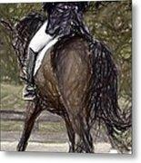 Dressage Horse Portrait Metal Print