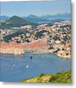 Dubrovnik, Croatia. Overall View Of Old Metal Print