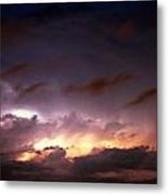 Dying Storm Cells With Fantastic Lightning Metal Print