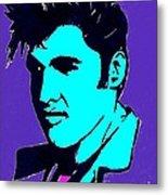 Elvis The King Metal Print