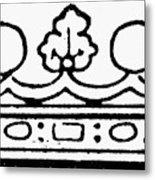 English Crown Metal Print