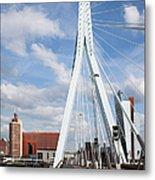 Erasmus Bridge In Rotterdam Metal Print