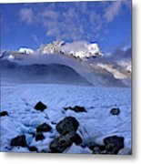 Exploration Of Ice Caves And Moulins Metal Print