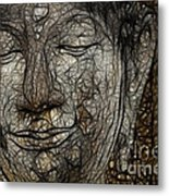 Face Of Buddha Metal Print