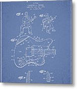 Fender Guitar Patent Drawing From 1960 Metal Print