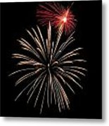 Fire Works Metal Print