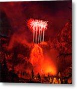 Fireworks Above Toce Falls, Formazza Metal Print