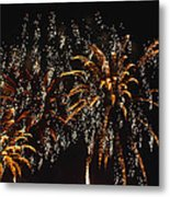 Fireworks Metal Print by Lester Phipps