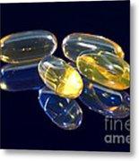 Fish Oil Capsules Metal Print