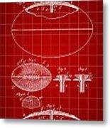 Football Patent 1902 - Red Metal Print