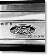 Powered By Ford Emblem -0307bw Metal Print