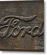 Ford Tough Antique Truck Logo Metal Print