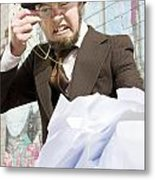 Frustrated Businessman Metal Print