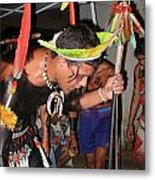 Fulnio Indians Of Brazil  Metal Print