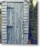 Garden Shed Metal Print by Amanda Elwell