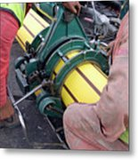 Gas Pipeline Construction Metal Print
