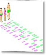 Genetic Relationships Of A Family Metal Print