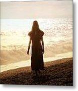 Girl On Beach Metal Print by Joana Kruse