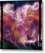 Gladiola Nebula Triptych Metal Print