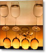 3 Glasses Metal Print
