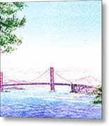 Golden Gate Bridge San Francisco Metal Print by Irina Sztukowski