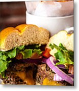 Gourmet Pub Hamburger Metal Print