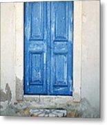 Greek Door Metal Print