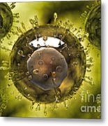 Group Of H5n1 Virus With Glassy View Metal Print