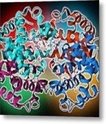 Haemoglobin Molecule Metal Print by Science Photo Library