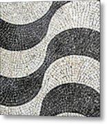 Hand Painted Portuguese Ceramic Tile Metal Print