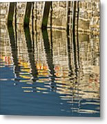 Harbour Reflections Metal Print