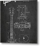 Hart Gibson Electrical Musical Instrument Patent Drawing From 19 Metal Print