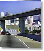 Heading Into The Busy Part Of San Francisco Metal Print