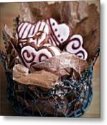 Heart Cookies Metal Print