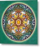 Heaven And Earth Mandala Metal Print