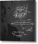 Henry Ford Engine Patent Drawing From 1928 Metal Print