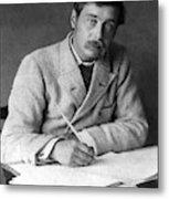 Herbert George Wells (1866-1946) Metal Print