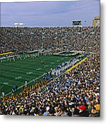 High Angle View Of A Football Stadium Metal Print