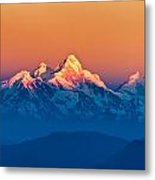 Himalayan Mountains View From Mt. Shivapuri Metal Print