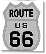Historical Route 66 Sign Illustration Metal Print