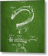 Horseshoe Patent Drawing From 1898 Metal Print