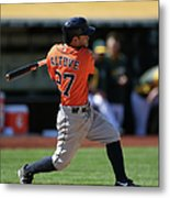 Houston Astros Vs. Oakland Athletics Metal Print