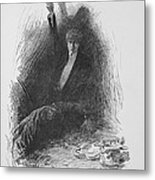 Illustration From The Picture Of Dorian Metal Print