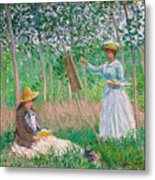 In The Woods At Giverny Metal Print