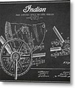 Indian Motorcycle Patent From 1902 Metal Print by Aged Pixel